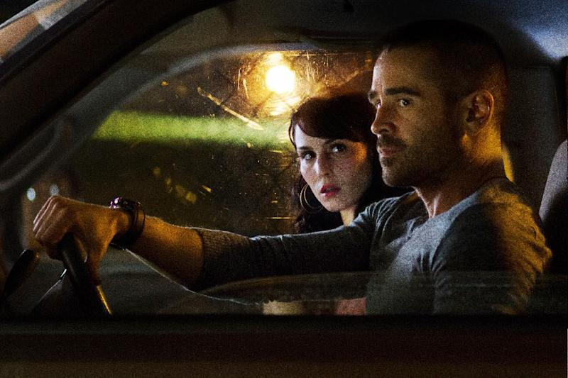 """This film image released by FilmDistrict shows Noomi Rapace , left, and Colin Farrell in a scene from """"Dead Man Down."""" (AP Photo/FilmDistrict, John Baer)"""