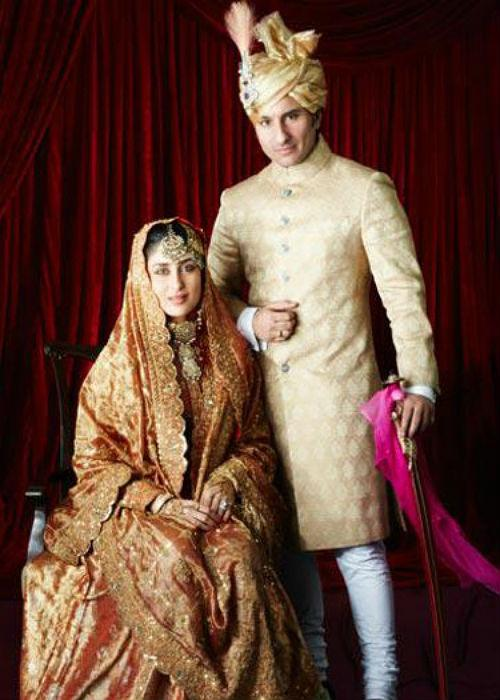"<div class=""heading03""><b>7. Saif Ali Khan-Kareena Kapoor</b></div> <p> I know I get no eyebrows up for mentioning this one. This Bollywood  Shaadi was like a National Issue in our country about which everybody  knows, all thanks to Media! So, not a word more on this Couple, Let's  move forward.</p>"
