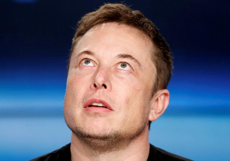 Tesla and SpaceX CEO Elon Musk at a SpaceX press conference in Cape Canaveral, Fla., on Feb. 6, 2018. (REUTERS/Joe Skipper)