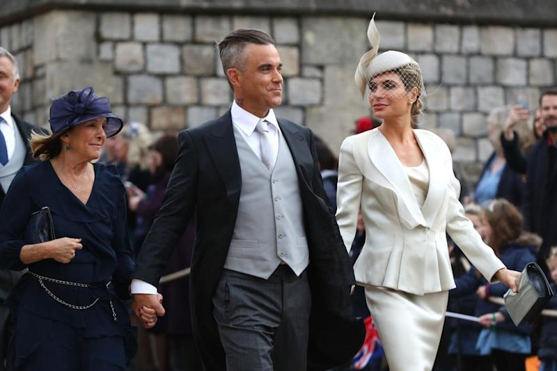 Robbie Williams and wife Ayda Field (PA)