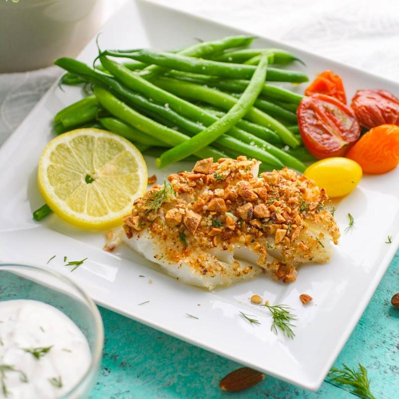 Baked Almond-Crusted Cod Recipe