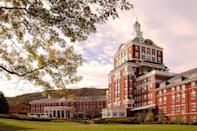 """<p>Amidst a dreamy, rural landscape in Virginia's Shenandoah Valley sits the grand <a href=""""https://www.omnihotels.com/hotels/homestead-virginia"""" rel=""""nofollow noopener"""" target=""""_blank"""" data-ylk=""""slk:Omni Homestead Resort"""" class=""""link rapid-noclick-resp"""">Omni Homestead Resort</a>, home to healing hot springs that drove our founding fathers to fall in love with the area and the birthplace of golf legend Sam Snead. This historic property is built to entertain and educate at all seasons, from skiing in the winter to poolside parties in the summer, and a fabulous afternoon high tea 365 days a year.</p><p>Located across 2,000 scenic acres, the Homestead is full of beauty at every turn—and activity too. Fly fishing, biking, zip lining, and water sports will keep everyone busy while the resort spa's Aqua Thermal Suite and adults-only Serenity Garden offer unique ways to slow down and catch your breath. The resort has been serving up Southern hospitality for more than 250 years, and it certainly shows.</p>"""