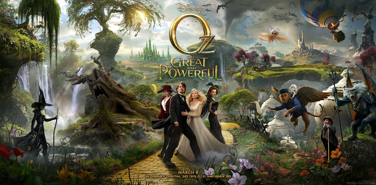 """James Franco, Michelle Williams, Mila Kunis and Rachel Weisz star in Walt Disney Pictures' """"Oz The Great and Powerful"""" - 2013"""
