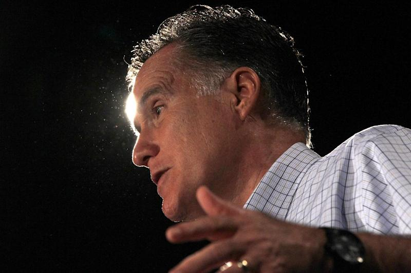 FILE - In this Aug. 8, 2012 file photo, Republican presidential candidate, former Massachusetts Gov. Mitt Romney campaigns in Des Moines, Iowa. Democrats are growing increasingly confident that a two-pronged tax attack on Republican Mitt Romney _ one part policy, one part politics _ could help President Barack Obama lure pivotal support from middle class voters _ and win a second term. Led by Obama, the Democrats are going after Romney for seeking to protect tax cuts for the wealthy and refusing to release more information on the taxes he pays on his multi-million dollar personal fortune. (AP Photo/Charles Dharapak, File)