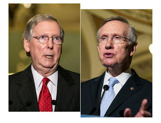 GTY mitch mcconnell harry reid lpl 130712 Nuclear Flashback: When Harry Reid and Mitch McConnell Sang Different Tunes