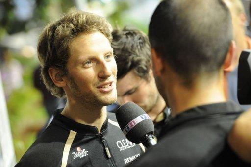 Lotus driver Romain Grosjean
