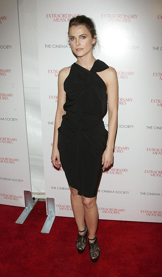 "<a href=""http://movies.yahoo.com/movie/contributor/1800021479"">Keri Russell</a> at the New York Cinema Society screening of <a href=""http://movies.yahoo.com/movie/1810120879/info"">Extraordinary Measures</a> - 01/21/2010"