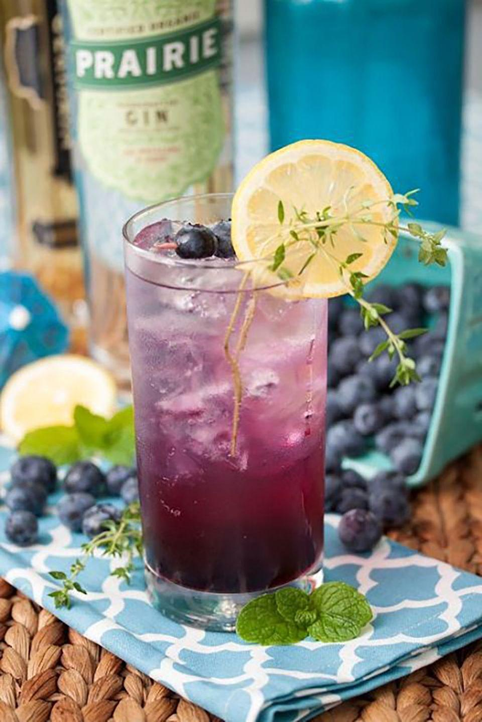 "<p><strong>Ingredients:</strong><br></p><p>1 ½ oz. Prairie Organic Vodka</p><p>½ oz. Elderflower Liqueur</p><p>½ oz. Simple Syrup</p><p>Muddled Blueberries</p><p><strong>Directions:</strong></p><p>Mix all ingredients.</p><p><em>Courtesy of <a href=""https://www.prairieorganicspirits.com/products/"" rel=""nofollow noopener"" target=""_blank"" data-ylk=""slk:Prairie Organic Vodka"" class=""link rapid-noclick-resp"">Prairie Organic Vodka</a></em></p>"