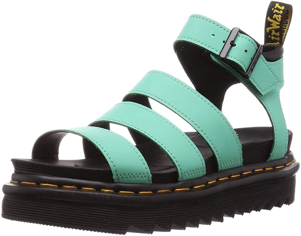 <p>These <span>Dr. Martens Blaire Brando Fisherman Sandals</span> ($81 - $150) will add a fun pop of color to your everyday sandals.</p>