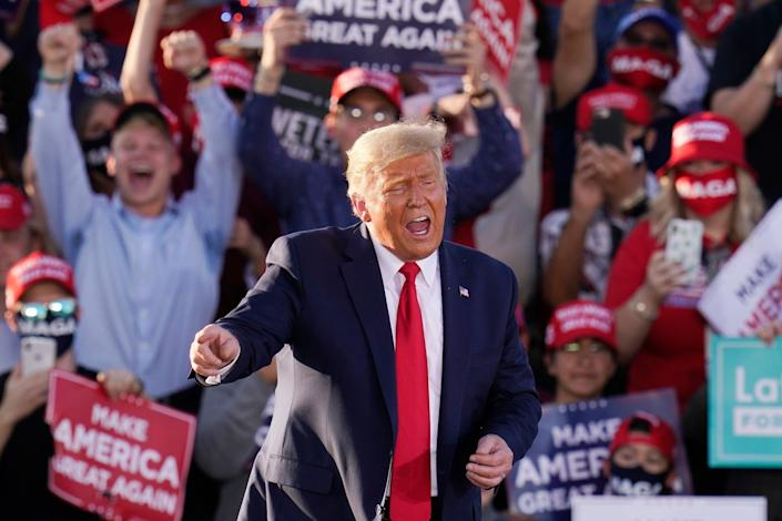 Conservative pollster Robert Cahaly has predicted a Donald Trump victory come 3 November (Copyright 2020 The Associated Press. All rights reserved)