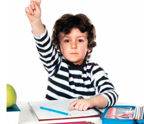 Image of child raising hand