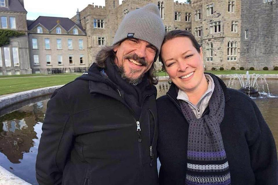 Kurt Cochran and his wife Melissa, who is in hospital: PA