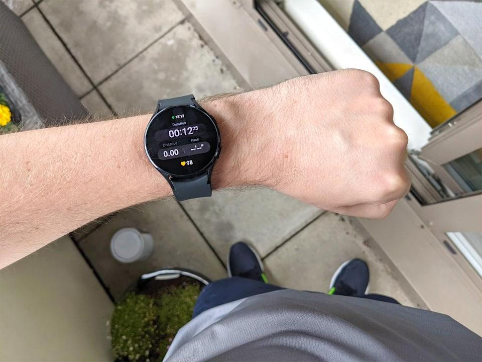 Built in GPS and music storage means you can leave your phone behind when going for a run (Steve Hogarty/The Independent)
