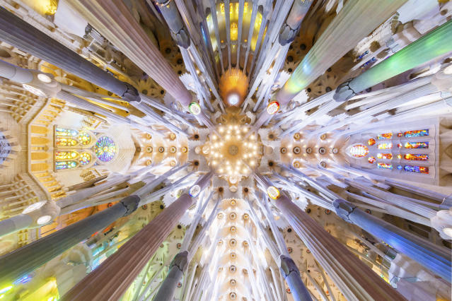 <p>The Sagrada Familia in Barcelona. (Photo: Loic Lagard/Caters News) </p>