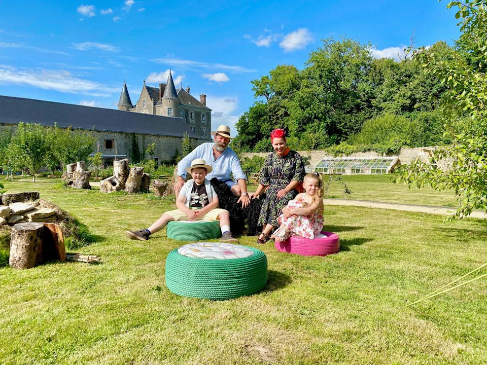 Strawbridge family on Escape To The Chateau: Make Do And Mend  (Channel 4)