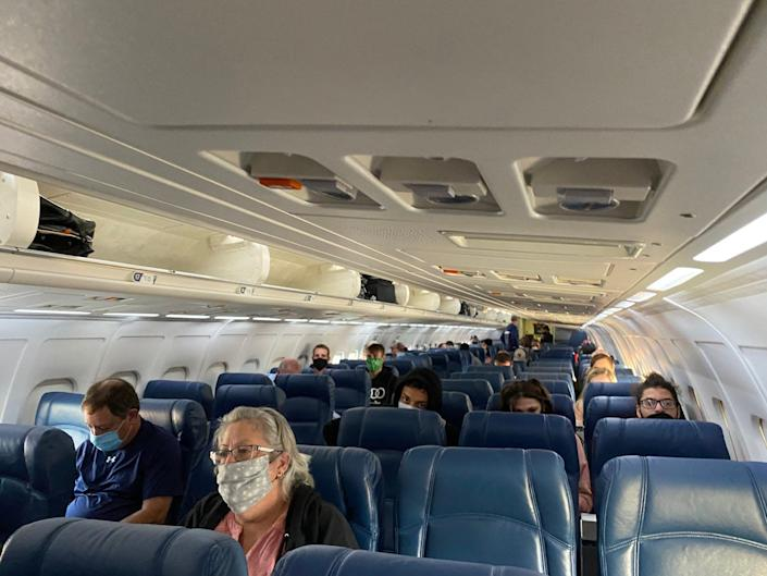 Flying on Delta Air Lines during the pandemic.