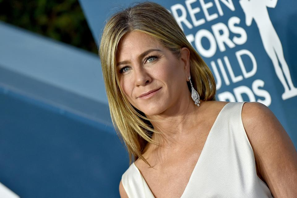 Actress Jennifer Aniston, 51, took to Instagram on Sunday to share a video of her new rescue dog, Lord Chesterfield. (Photo: Axelle/Bauer-Griffin/FilmMagic)