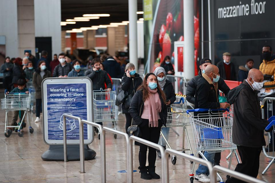Tesco has one in 10 staff absent. Photo: Hannah McKay/Reuters