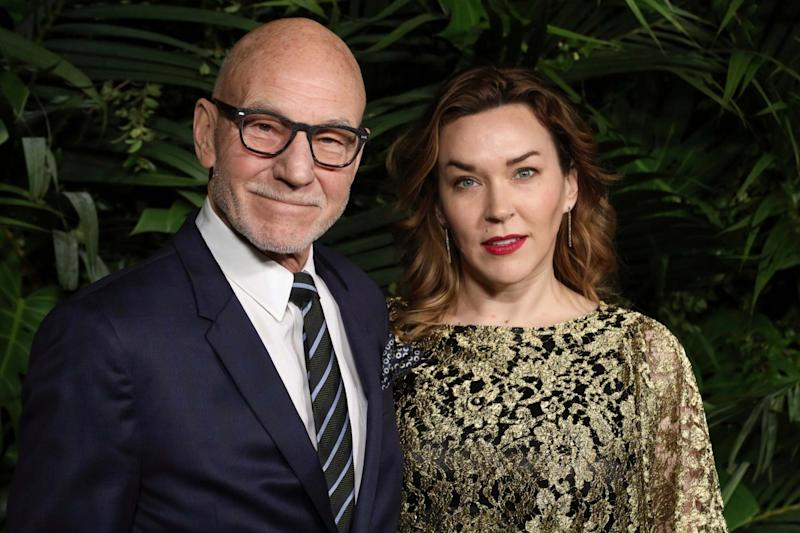 Patrick Stewart and wife Sunny Ozell (Willy Sanjuan/Invision/AP)