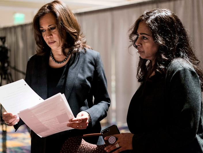 Sen. Kamala Harris, D-Calif., and her sister Maya Harris: Melina Mara/The Washington Post
