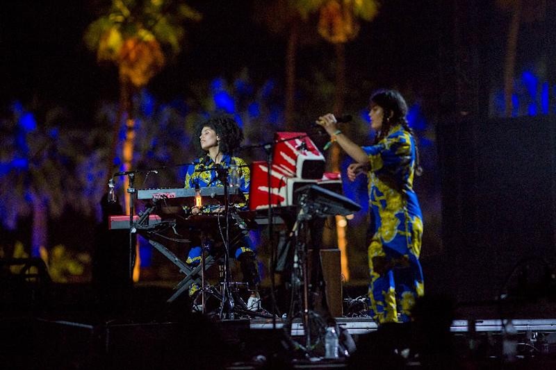 French duo Ibeyi performing Sunday with Kali Uchis at the Coachella music festival in Indio California