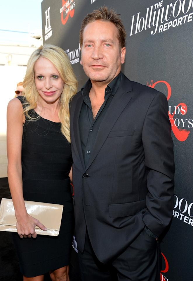 "Ronan Vibert and guest attend a special screening of ""Hatfields & McCoys"" hosted by The History Channel at Milk Studios on May 21, 2012 in Hollywood, California."