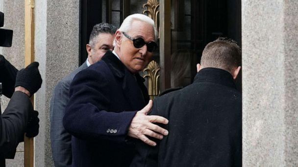 PHOTO: Roger Stone arrives at court prior to his sentencing hearing, Feb. 20, 2020, in Washington, D.C. (Alex Edelman/AFP/Getty Images)