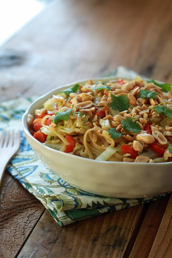 One pot dinners sesame noodles and veggies
