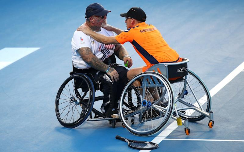 Paul Guest and playing partner Edwin Vermetten reached the final of the wheelchair doubles - Getty Images AsiaPac