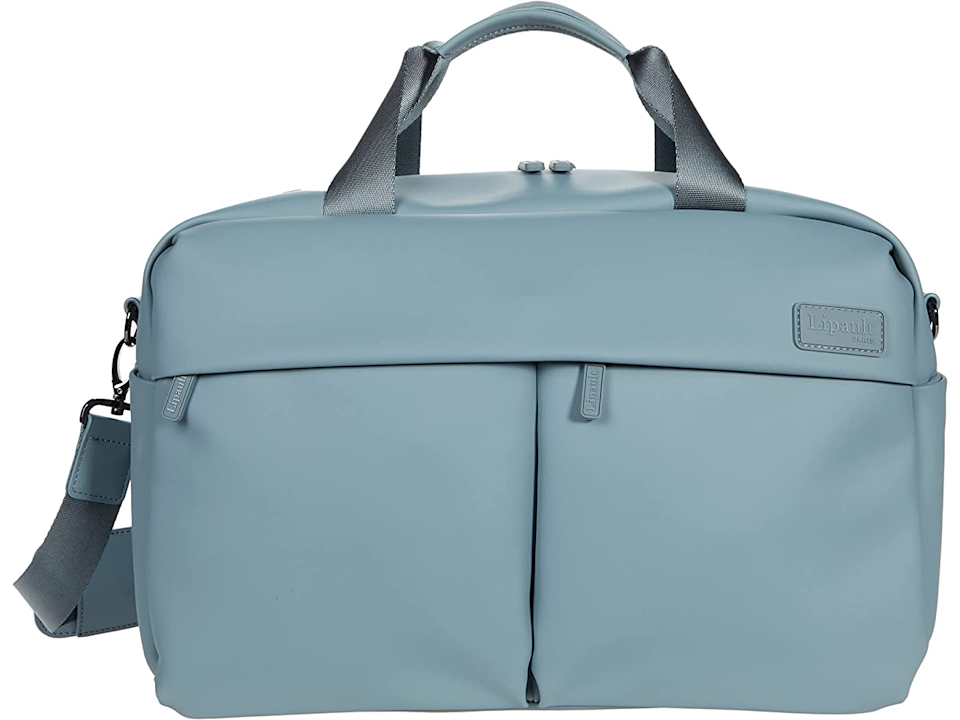 """<strong><h3>Lipault Paris Lost In Berlin 24-Hour Bag</h3></strong><br>Stylish with enough capacity to house your 24-hour stay necessities while remaining light and sleek enough for slipping in and dipping out with ease.<br><br><em>Shop <strong><a href=""""https://www.zappos.com/b/lipault-paris/brand/3363"""" rel=""""nofollow noopener"""" target=""""_blank"""" data-ylk=""""slk:Lipault Paris"""" class=""""link rapid-noclick-resp"""">Lipault Paris</a></strong></em><br><br><strong>Lipault Paris</strong> Lost In Berlin 24 Hour Bag, $, available at <a href=""""https://go.skimresources.com/?id=30283X879131&url=https%3A%2F%2Fwww.zappos.com%2Fp%2Flipault-paris-lost-in-berlin-24-hour-bag-pebble-blue%2Fproduct%2F9573244%2Fcolor%2F164211"""" rel=""""nofollow noopener"""" target=""""_blank"""" data-ylk=""""slk:Zappos"""" class=""""link rapid-noclick-resp"""">Zappos</a>"""