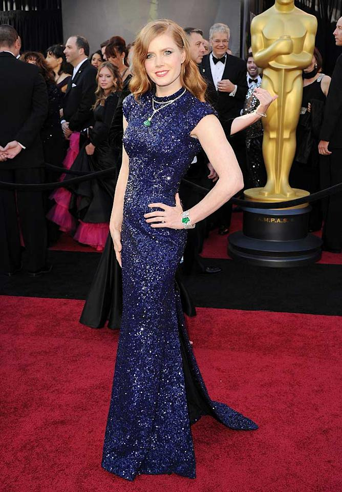 Amy Adams arrives at the 83rd Academy Awards at the Kodak Theatre in Hollywood, CA.
