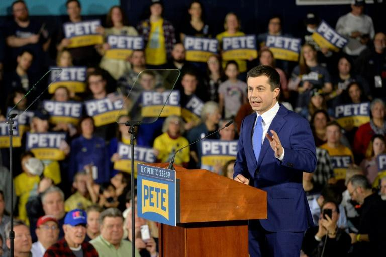 Pete Buttigieg is hoping to ride his success in Iowa and New Hampshire to the next battleground states (AFP Photo/Joseph Prezioso)