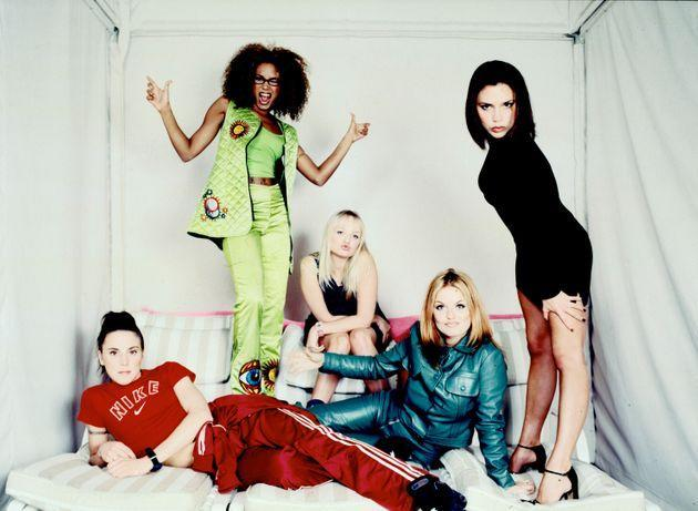 The Spice Girls pose for a group portrait during a studio session in New York City, February 1, 1997 (Photo: Ann Summa via Getty Images)