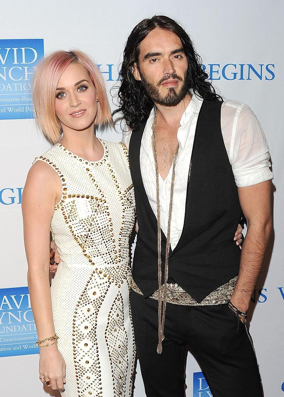 """<p>Katy may have just gotten engaged to Orlando Bloom, but, uh, remember when she was married to Russell? The pop star and the British actor said """"I do"""" in a lavish Indian wedding in 2010, then separated only 14 months later.</p>"""