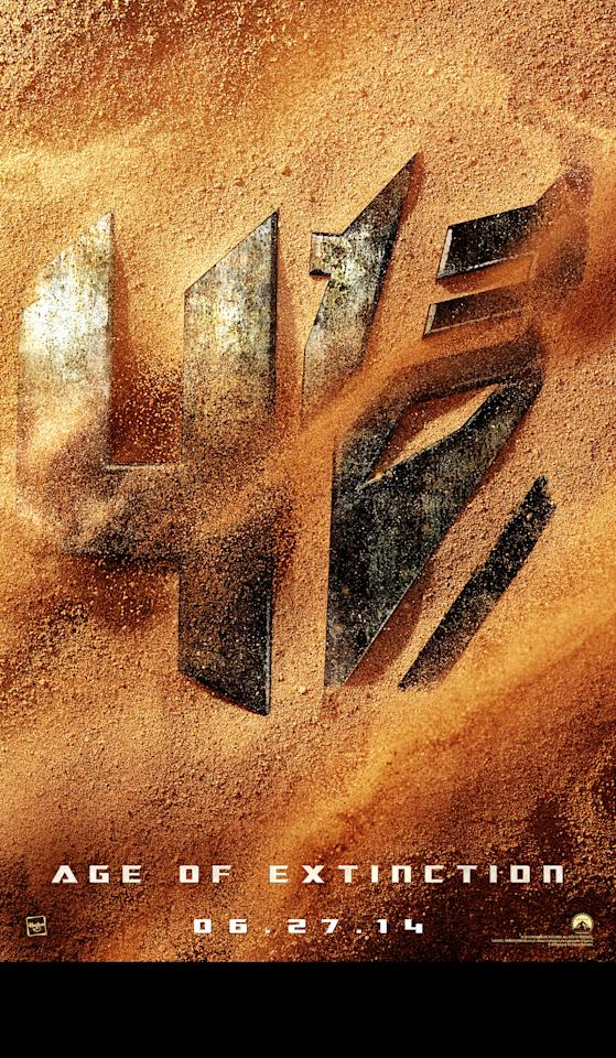 "The first teaser poster for Paramount Pictures' ""Transformers: Age of Extinction"" - 2014"