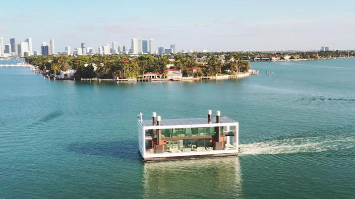 Shot of the Arkup on the move outside Miami.