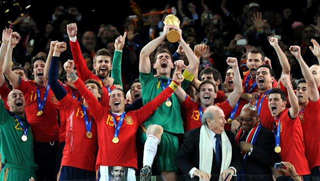 <p>Spain have been at every World Cup for more than 40 years, last missing out in 1974. <em>La Roja</em> had also missed out in 1970, didn't make it beyond the group stage in 1966 or 1962, and had previously failed to qualify in 1958 or 1954.</p> <br><p>Despite being European champions as early as 1964, it was only in 2010 that Spain translated technical quality and potential into actual results on the global stage.</p> <br><p><strong>Status in 2018:</strong> Top of UEFA Group G and guaranteed at least a playoff place</p>