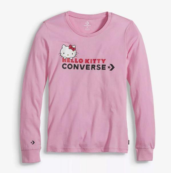 PHOTO: This pink long sleeve t-shirt is part of the Hello Kitty Converse collection. (Converse)