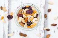 """<p>""""I stock his supply of semi-healthy food he keeps at work—nuts, bars, savory snacks, and some sweets."""" –<em>Jessica</em></p>"""