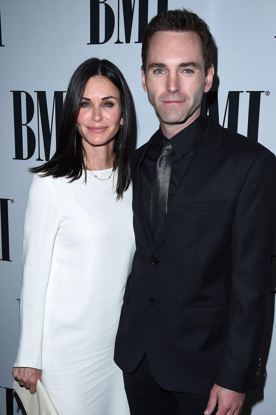 """<p>From their sparkling blue eyes to their matching angular faces, the former <em><span class=""""redactor-unlink"""">Friends</span></em><span class=""""redactor-unlink""""> star</span> and her Irish longtime partner could practically be related. (Except, ew, gross.)</p>"""