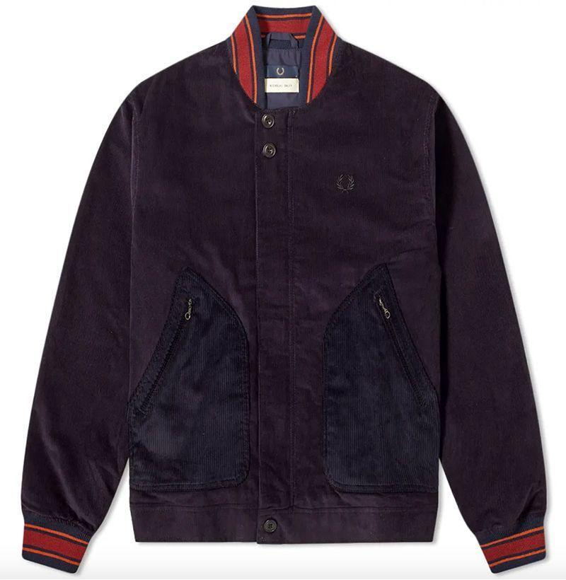 """<p><strong>Fred Perry x Nicholas Daley</strong></p><p>endclothing.com</p><p><strong>$209.00</strong></p><p><a href=""""https://go.redirectingat.com?id=74968X1596630&url=https%3A%2F%2Fwww.endclothing.com%2Fus%2Ffred-perry-x-nicholas-daley-corduroy-bomber-jacket-sj7025-266.html&sref=https%3A%2F%2Fwww.esquire.com%2Fstyle%2Fnews%2Fg2932%2F10-best-bomber-jackets-for-fall%2F"""" rel=""""nofollow noopener"""" target=""""_blank"""" data-ylk=""""slk:Buy"""" class=""""link rapid-noclick-resp"""">Buy</a></p><p>Scottish-Jamaican designer Nicholas Daley brings his signature attention to detail to a corduroy bomber jacket made in collaboration with iconic British label Fred Perry. </p>"""