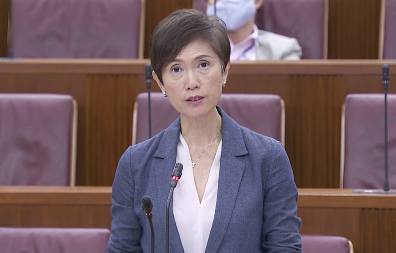 Manpower Minister Josephine Teo at Parliament on 4 May, 2020. (PHOTO: Parliament screencap)