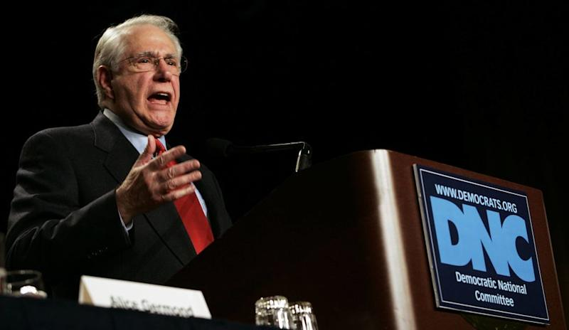 Presidential candidate and former Senator Mike Gravel speaks during the Democratic National Committee (DNC) Winter Meeting at the Capitol Hilton on February 3, 2007 in Washington, D.C. | Jamie Rose Getty Images
