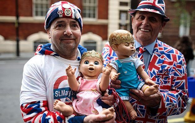 Eager fans couldn't wait for news of the royal birth. Photo: Getty