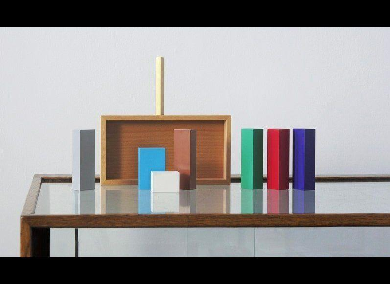 This nativity scene, using only color blocks, is Oestreicher's current favorite, as it shows that the nativity is so iconic that it's possible to look at these abstract shapes and still tell what its depicting immediately.