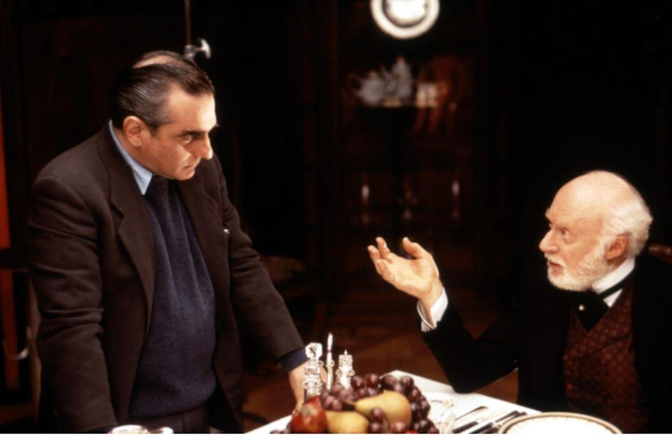 Norman Lloyd (right) with Martin Scorsese on the set of The Age of Innocence - Everett/REX Shutterstock