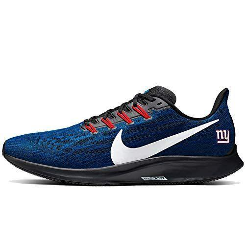 """<p><strong>Nike</strong></p><p>amazon.com</p><p><strong>$189.95</strong></p><p><a href=""""https://www.amazon.com/dp/B07Y3XJ1VP?tag=syn-yahoo-20&ascsubtag=%5Bartid%7C10065.g.23515577%5Bsrc%7Cyahoo-us"""" rel=""""nofollow noopener"""" target=""""_blank"""" data-ylk=""""slk:Shop Now"""" class=""""link rapid-noclick-resp"""">Shop Now</a></p><p>These subtle sneakers come decked in Giants colors, with a team logo on the tongue. </p>"""