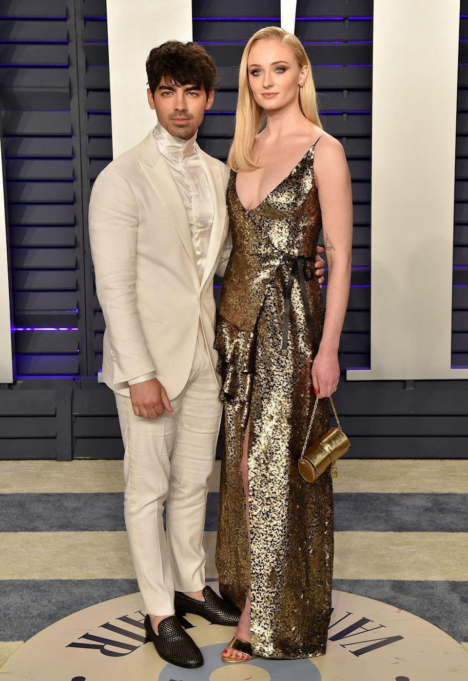 """<p><a href=""""https://www.elle.com/uk/life-and-culture/g26509306/oscars-2019-cutest-couples-red-carpet/"""" rel=""""nofollow noopener"""" target=""""_blank"""" data-ylk=""""slk:The couple attend"""" class=""""link rapid-noclick-resp"""">The couple attend </a>the Vanity Fair Academy Awards after party.</p>"""