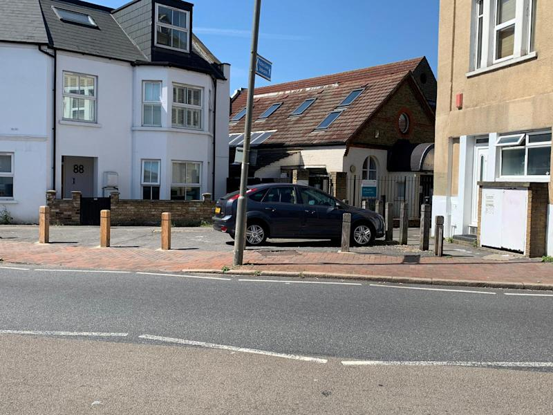 The Ford Focus 2007 has been stuck off Eardley Road by Streatham Common, London, for the past two weeks (SWNS)