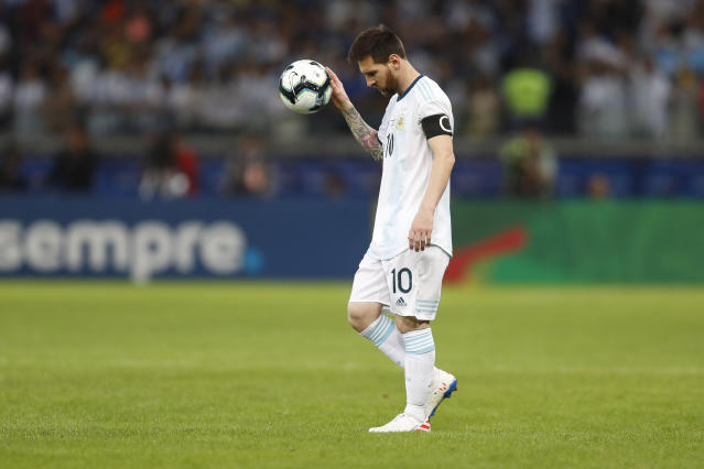 If this is the final international competition for Lionel Messi, he deserves better than Argentina's providing him. (Associated Press)